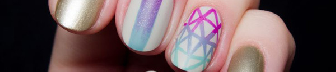 Geometric Gradient Nail Art