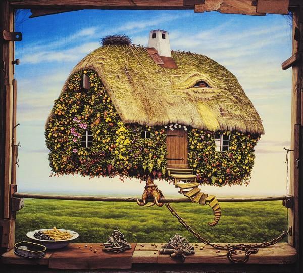 Frank Zweegers over jacek Yerka - schilderij 4
