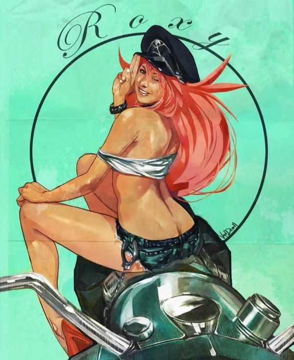 final fight roxy pin up