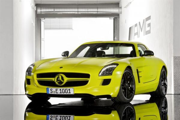 mercedes benz sls amg e-cell prototype