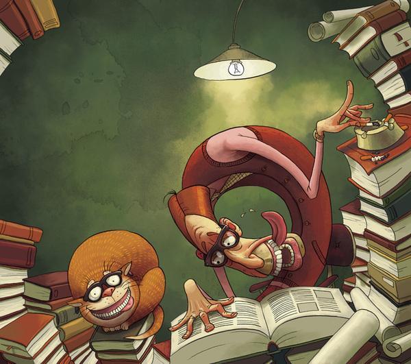 最具怪诞风格和幽默感的插画 - 缘来是你 - 网络杂谈之百科全书大全