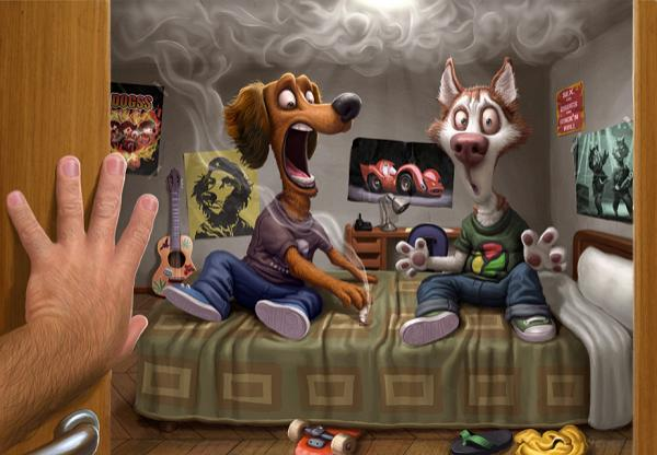 Cartoon characters by Tiago Hoisel