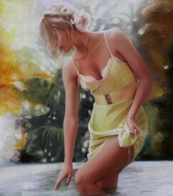Sensual Photorealistic Paintings By Talantbek Chekirov
