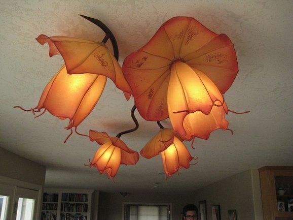 Hiih hand made paper lights art and design - Paper lantern chandelier ...