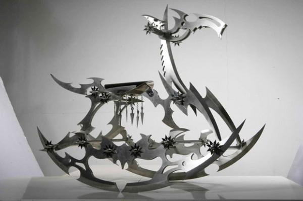 Лошадка-качалка - из нержавеющей стали скульптуры Ши Цзиньсун <3 !