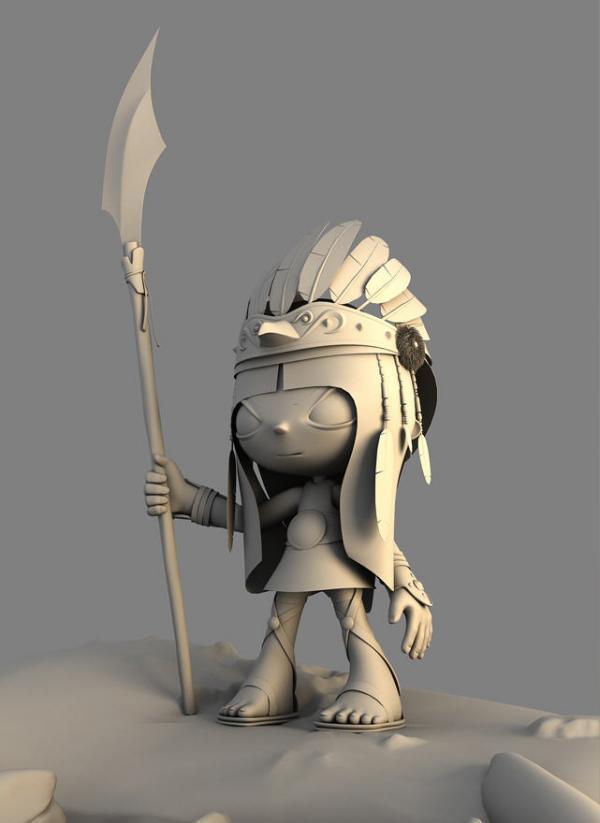 Personajes de dibujos animados en 3D por Hossein Afzali - nocturnar ...
