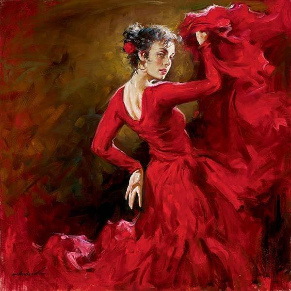 Paintings by andrew atroshenko art and design - Peinture danseuse de flamenco ...