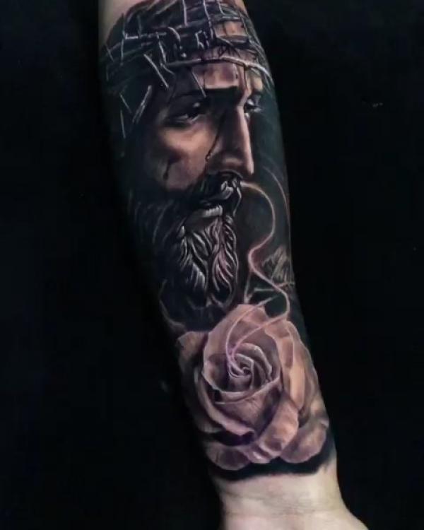 Jesus Rose Tattoo