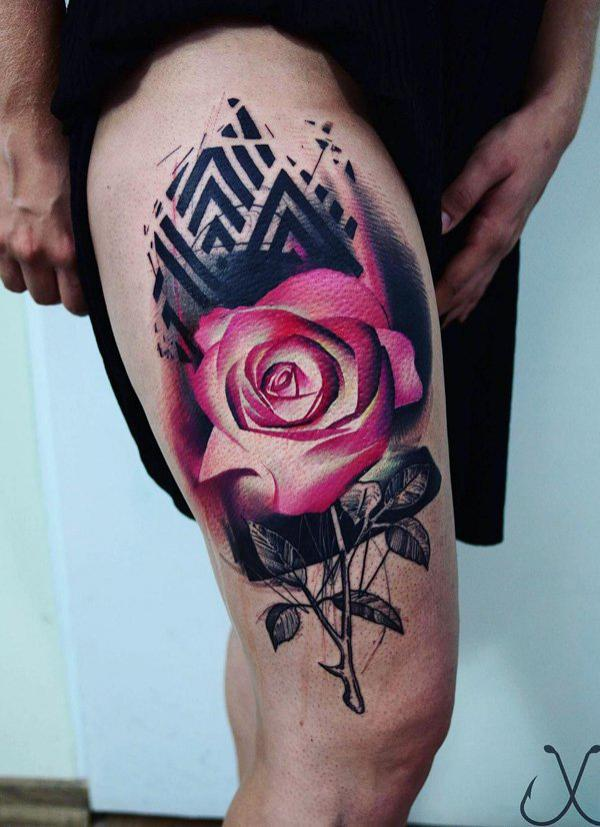 pink-rose-thigh-tattoo-98