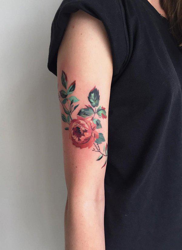 Elegant Roses tattoo for girl