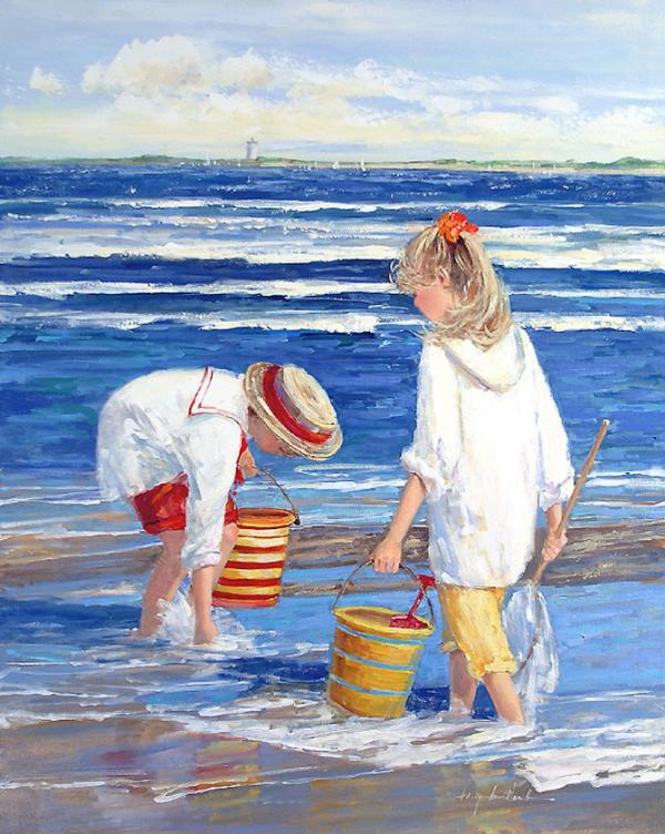 Beach Paintings By Sally Swatland Art And Design