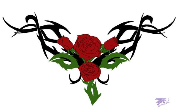 tribal rose vine tattoo designs wwwpixsharkcom