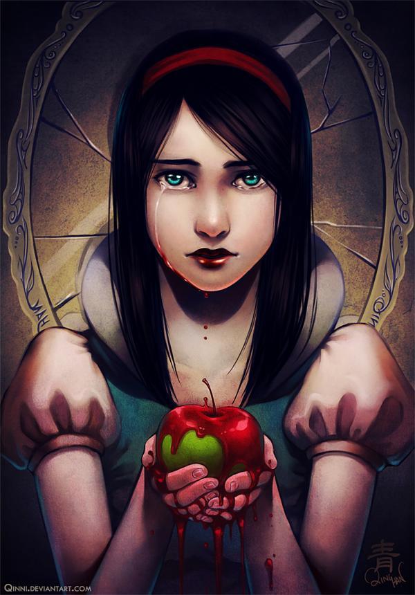 snow white by qinni - Digital Art by <b>Qing Han</b> ... - snow_white_by_qinni600_860