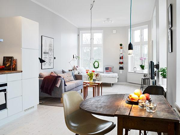 Small Apartment in Gothenburg Showcasing an Ingenious Layout. The small  apartment was especially developed for