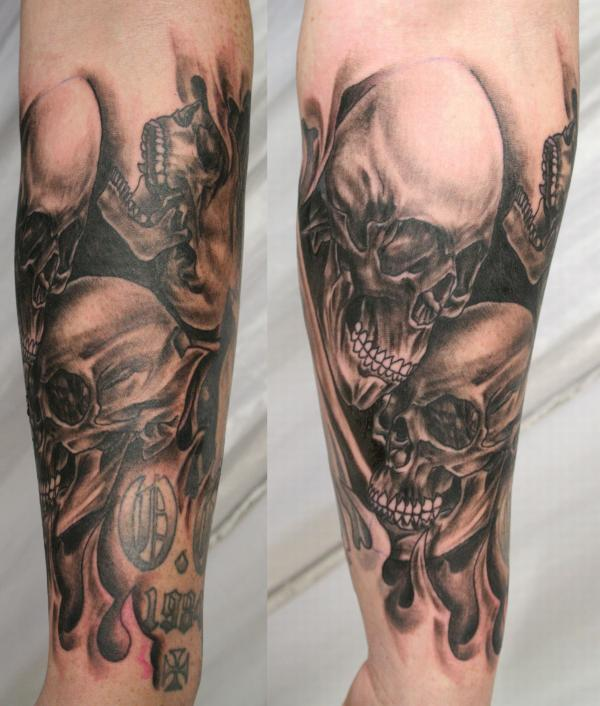 100 Awesome Skull Tattoo Designs | Art and Design
