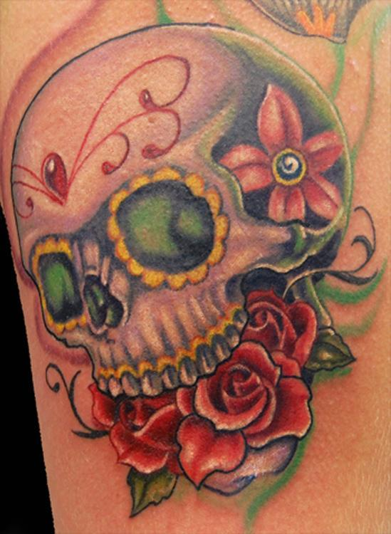 sugar skull and rose_549_750