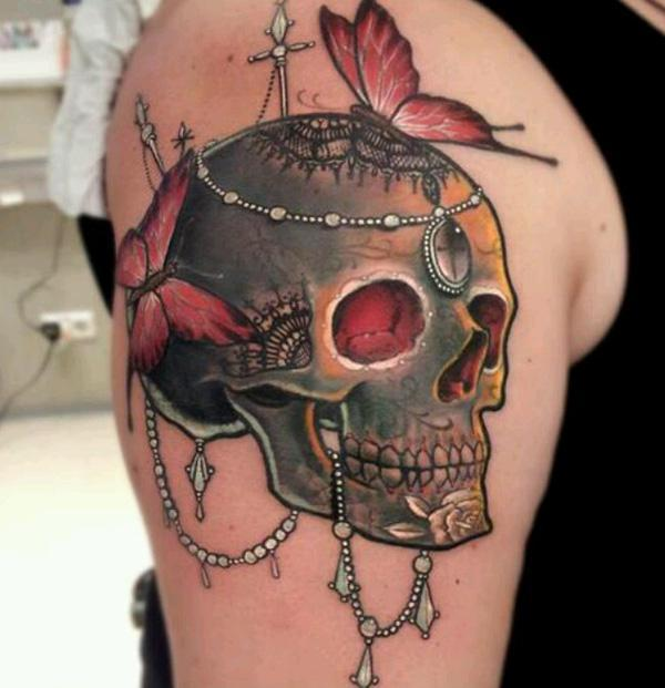 sugar skull bride tattoo tattoo