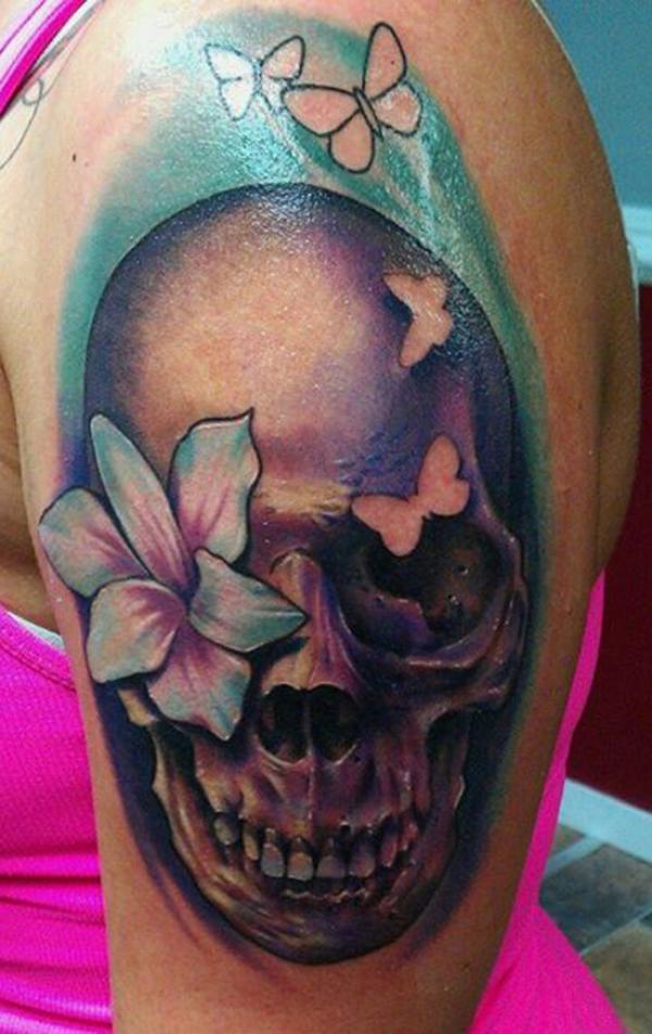 Living Skull tattoo