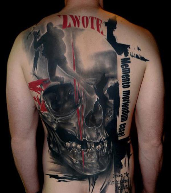 Skull war tattoo