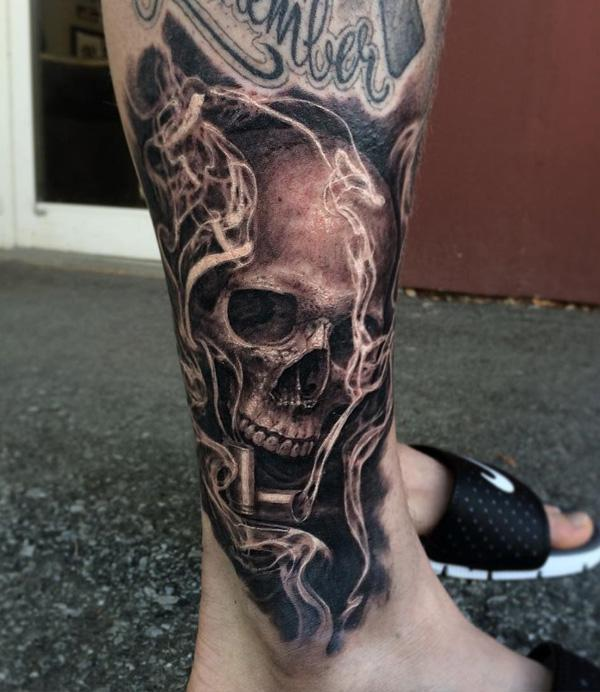 84-Skull tattoo for men