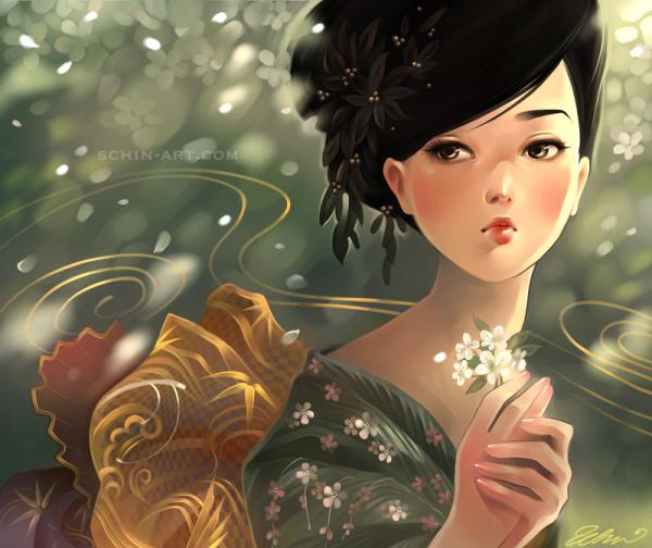 autumn by luciole - Fantasy Digital Portraits by Schin Loong  <3 <3