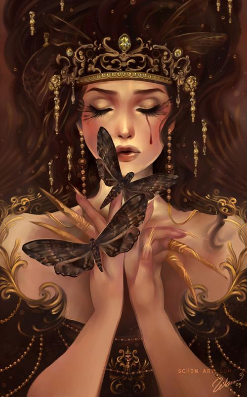 The moth eater  - Fantasy Digital Portraits by Schin Loong  <3 <3