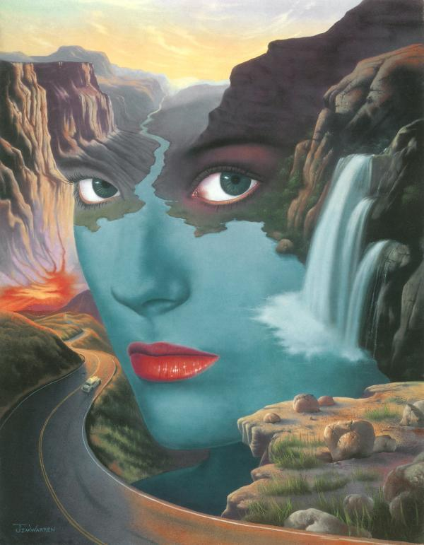 surrealistic fantasy paintings by jim warren art and design