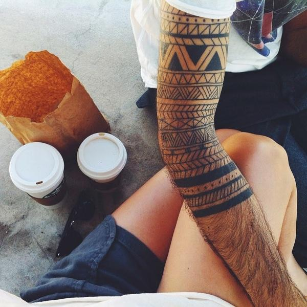Samoan adapted-sleeve-tribal-tattoo
