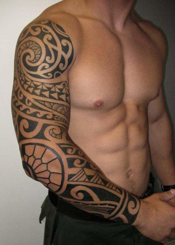 Tribal Sleeve Tattoos With Color
