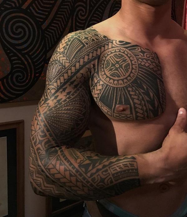 28b499e00 Tribal tattoo full sleeve tattoo - 70+ Awesome Tribal Tattoo Designs <3 ...