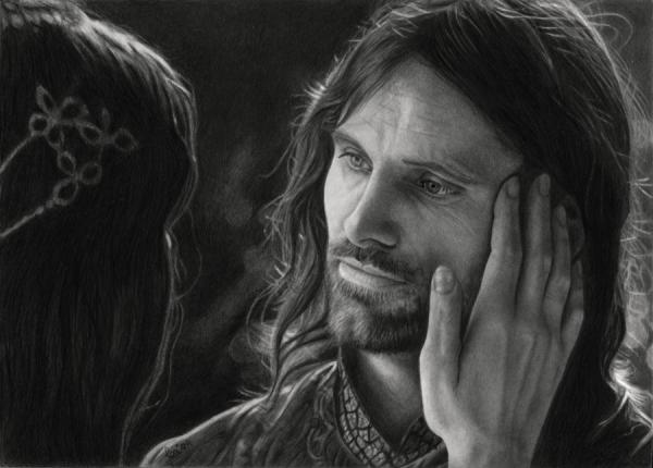 Lord of The Rings Pencil Drawings Aragorn Realistic Pencil