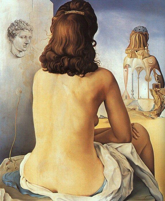 Grandes obras de la pintura y la escultura. - Página 2 My-wife_nude_by_salvador-dali_574_700