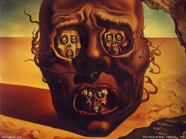 Grandes obras de la pintura y la escultura. - Página 2 Salvador-dali-the-face-of-war-_by_salvador-dali600_450