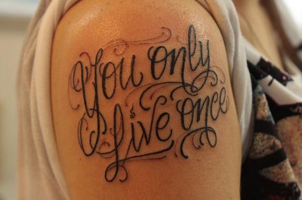 Font upper sleeve tattoo