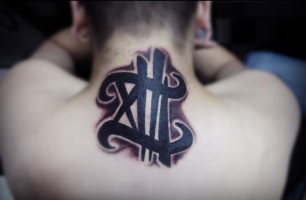 Font Neck Tattoo