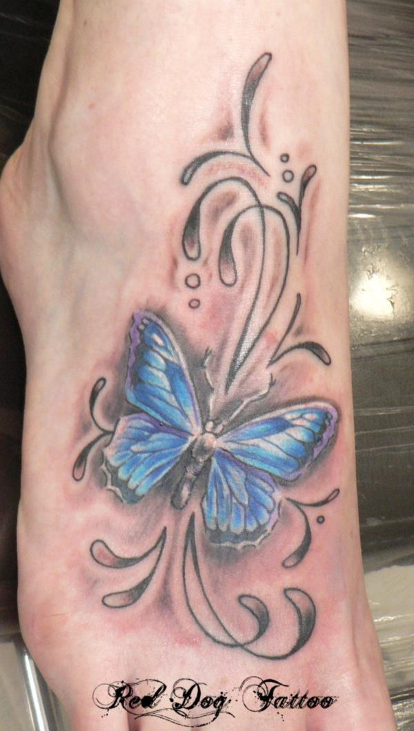 abstract butterfly tattoo