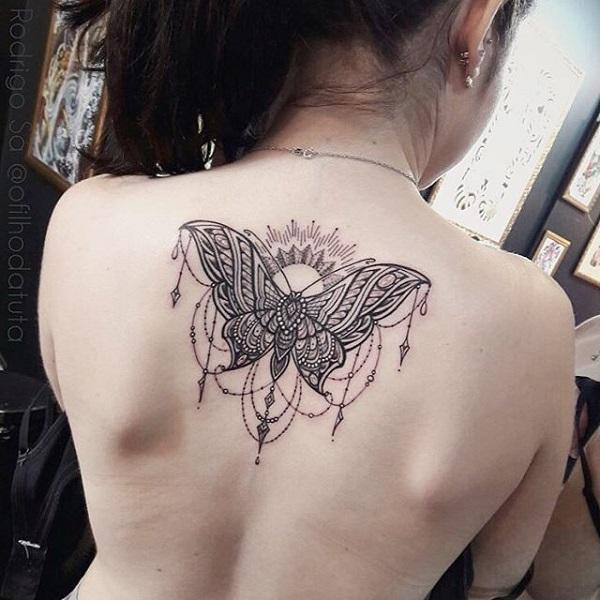 906fb4a40 Mandala butterfly back tattoo - 100+ Amazing Butterfly Tattoo Designs ...