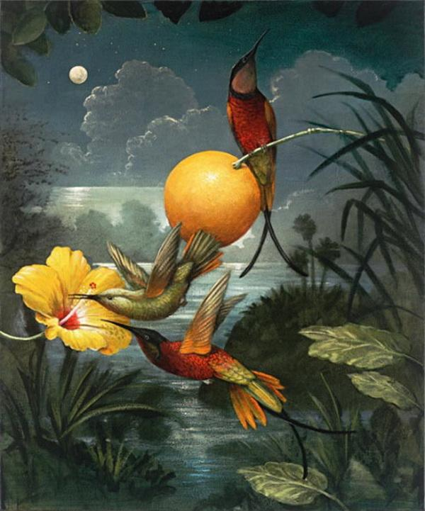 Grandes obras de la pintura y la escultura. An-exotic-evening