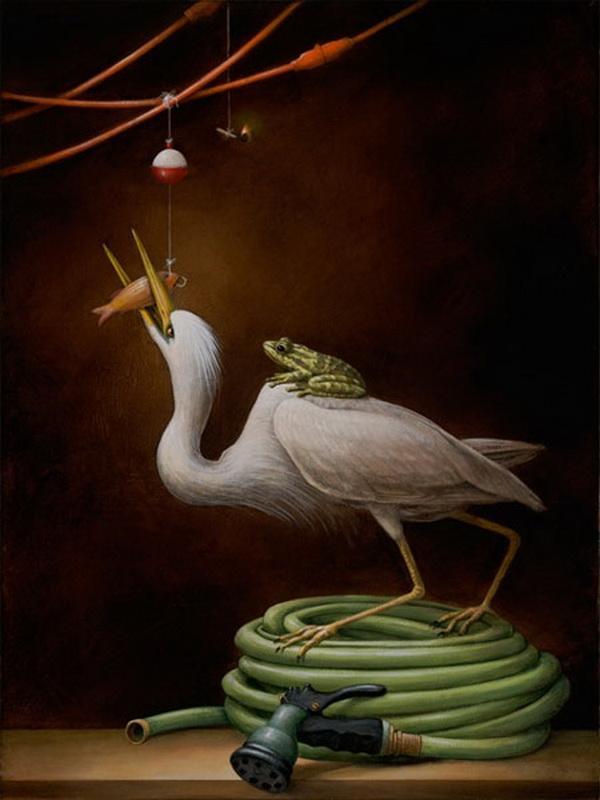 Grandes obras de la pintura y la escultura. Audubons-pond