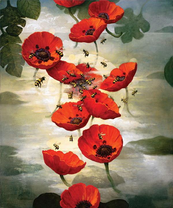 Grandes obras de la pintura y la escultura. Flowers-and-bees