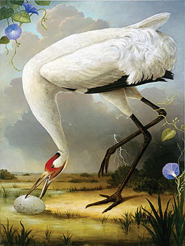 Grandes obras de la pintura y la escultura. Whooping-crane