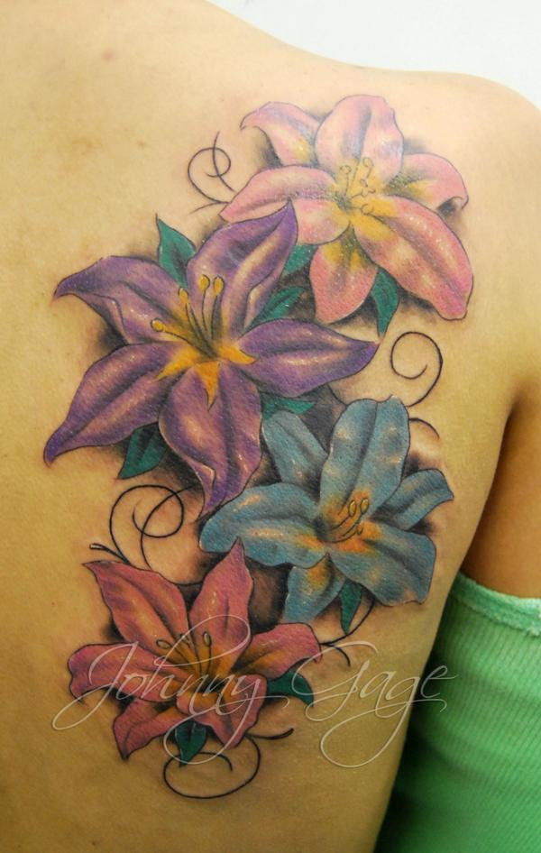 bdb2206d0 lilys and flourishes tattoo on shoulder - 55+ Awesome Lily Tattoo Designs  <3 ...