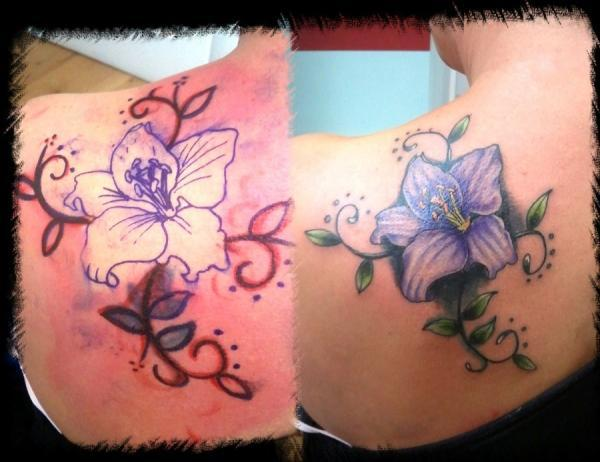 eb6f281b935b2 lilly cover up - 55+ Awesome Lily Tattoo Designs <3 <3 ...