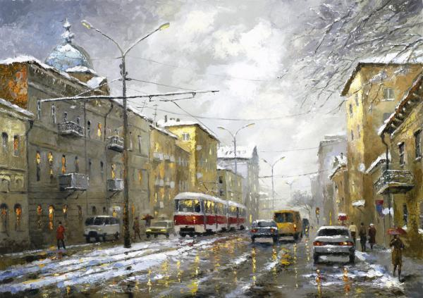 City Landscape Paintings By Dmitri Spiros Art And Design