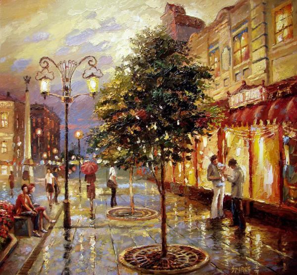 City Landscape Paintings By Dmitri Spiros