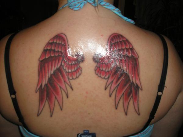 đôi cánh thiên thần - 60 Thánh Thiên thần Tattoo Designs <3 <3