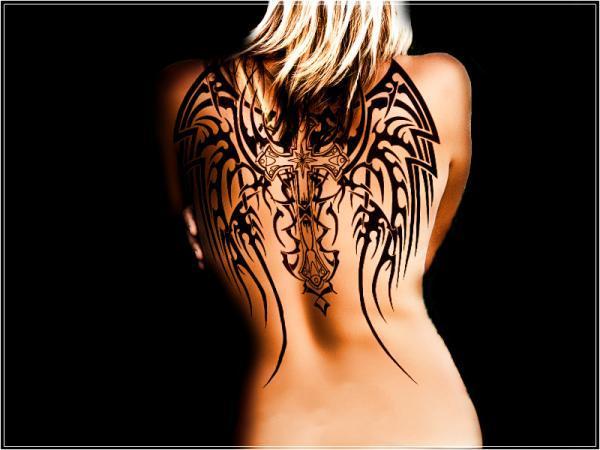 Thiên thần chéo cánh hình xăm - 60 Thánh Thiên thần Tattoo Designs <3 <3