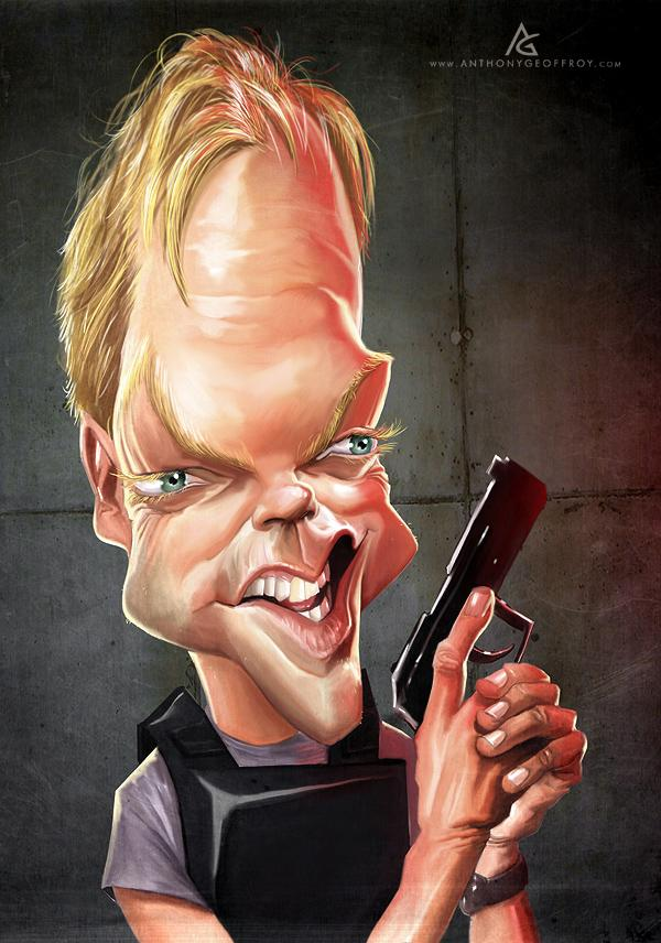 Jack Bauer - Caricature Illustrations by Anthony Geoffroy | Art and Design