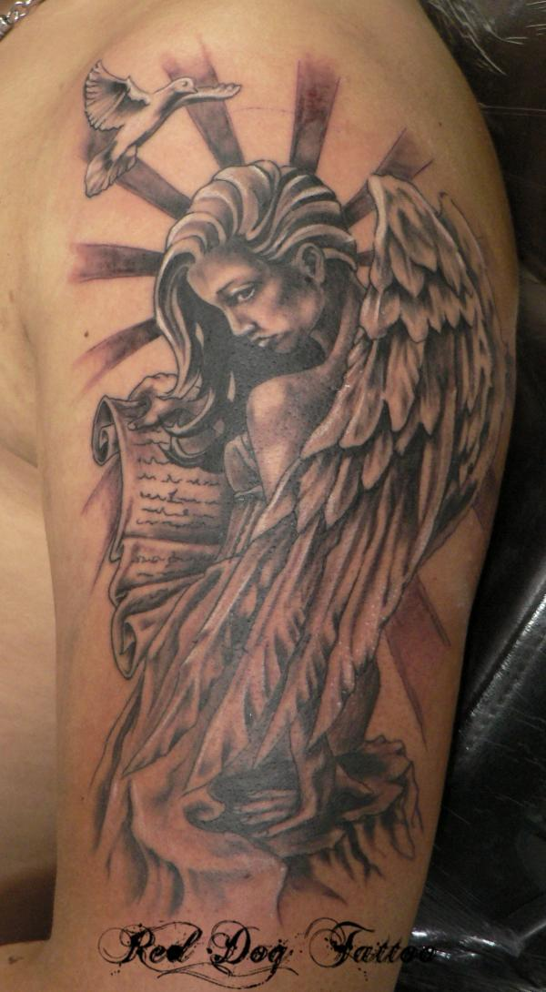 Angel Tattoo Designs Men