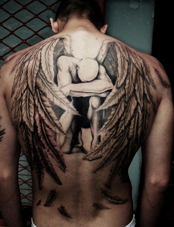 angel-xăm-men - 60 Thánh Thiên thần Tattoo Designs <3 <3